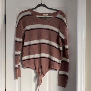 Front Tie Sweater